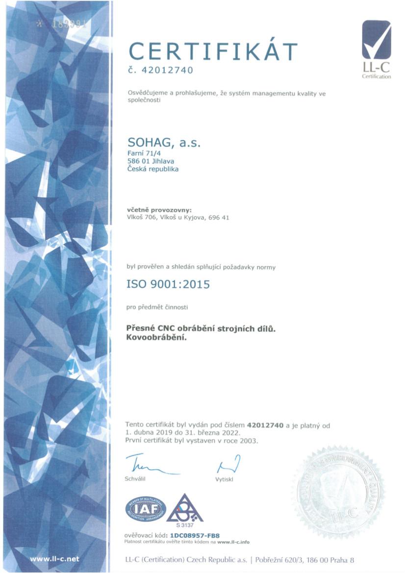 ISO9001 CZ